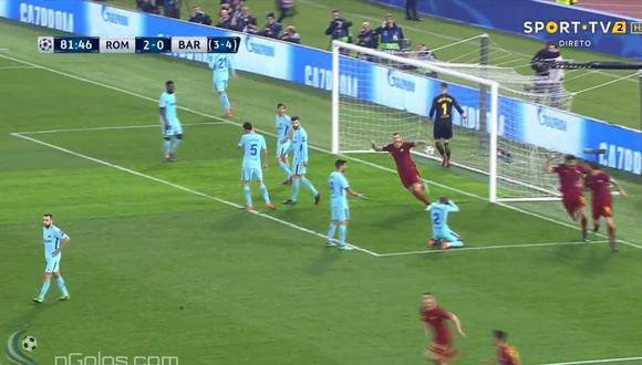 Barcelona vs. Roma: el gol de Manolas que elimina a culés