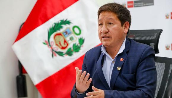 Guido Bellido se presentó el lunes ante la Comisión de la Mujer del Congreso, que sesionó de forma virtual. (Foto: PCM)