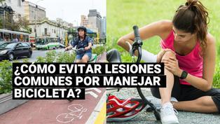 ¿Cómo evitar las lesiones más comunes al manejar bicicleta?