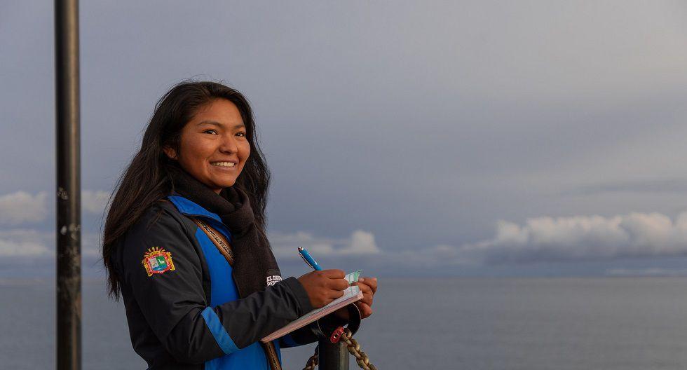 La joven puneña tiene como propósito profesional cuidar y preservar los recursos hídricos de uno de los lagos más grandes de Sudamérica. Conoce su historia. (Foto: Difusión)