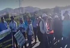 Moquegua: manifestantes contra Quellaveco bloquearon puente Montalvo