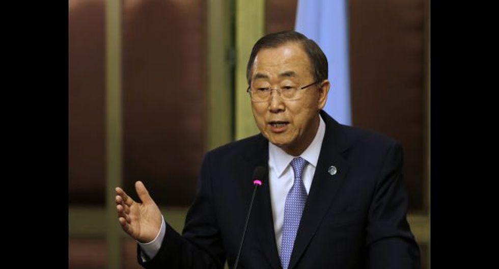 """Ban Ki-moon: """"Paren de pelear y empiecen a hablar"""""""