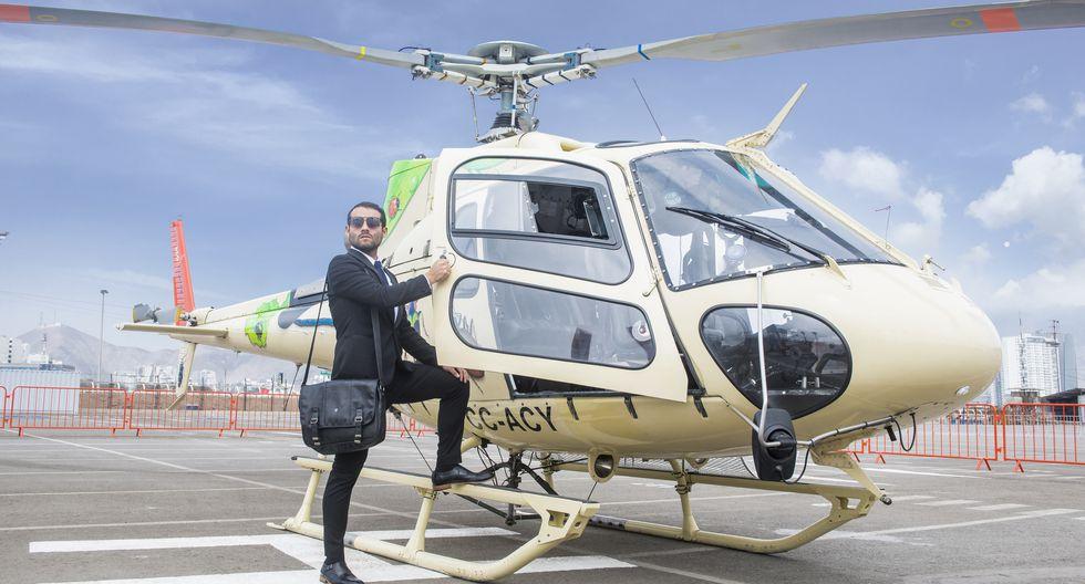 El Jockey Plaza es el primer 'mall' en el Perú en tener un helicóptero y un helipuerto.129  minutos es lo que tomaría viajar en helicóptero a Nasca desde el Jockey Plaza.  Esta es la ruta más larga que cubren. (Foto: Lukas Isaac)