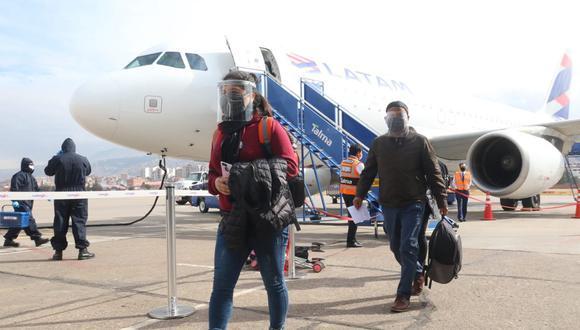 En el país, desde mediados de julio, el servicio de transporte aéreo comercial ya está funcionando en los lugares donde no rige la cuarentena focalizada (Foto: Juan Sequeiros/ GEC)