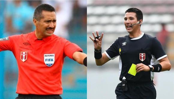 Mientras Miguel Santiváñez enfrenta una acusación por soborno, en el caso de Kevin Ortega hubo cuestionamientos por supuestos insultos a futbolistas dentro del campo. (Foto: GEC).