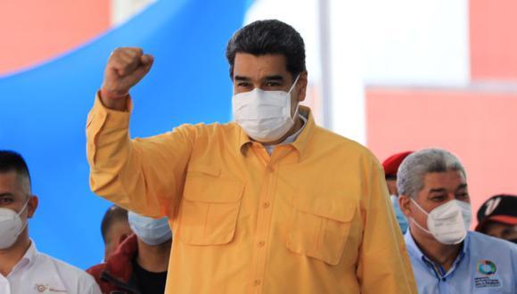 El presidente de Venezuela, Nicolás Maduro (C), participando en un acto de gobierno, en Caracas, Venezuela. (Foto: EFE / EPA / Miraflores Press).