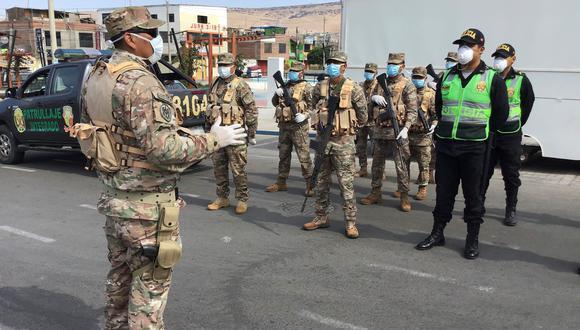Diresa informó que cinco policías y seis miembros del Ejército dieron positivo en las pruebas rápidas realizadas. (Foto: Ernesto Suárez)