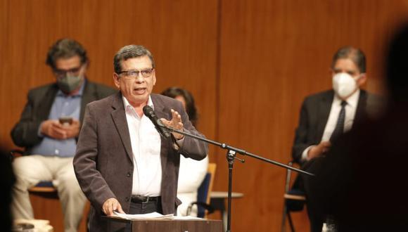 Hernando Cevallos expuso el plan de Perú Libre en el tema de salud. (Foto: Andrés Paredes / @photo.gec)