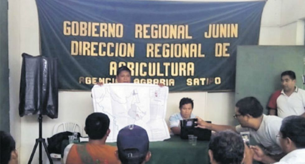 Reunión entre los campesinos desplazados y la Dirección de Titulación de Tierras del Gobierno Regional de Junín fue el 20 de setiembre.