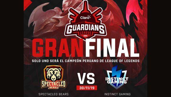 Spectacled Bears e Instinct Gaming chocarán este 30 de noviembre por la final de la Claro Guardians League. (Difusión)