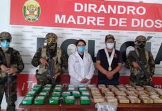 Madre de Dios: policía incauta más de 50 kilos de cocaína a cartel de droga