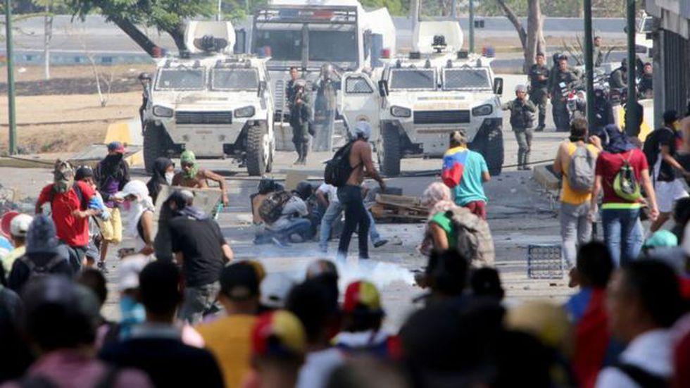 El gobierno de Maduro ha enfrentado intensas protestas en las calles de Venezuela. Foto: Getty images, vía BBC Mundo