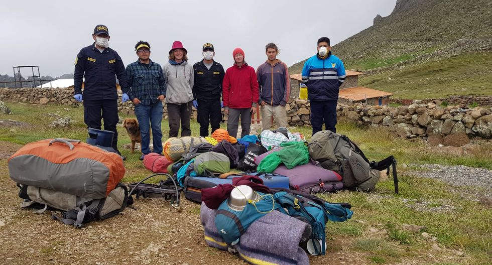 Turistas fueron rescatados en plena cuarentena por coronavirus. (Foto: Cortesía / Rudy Espíritu)
