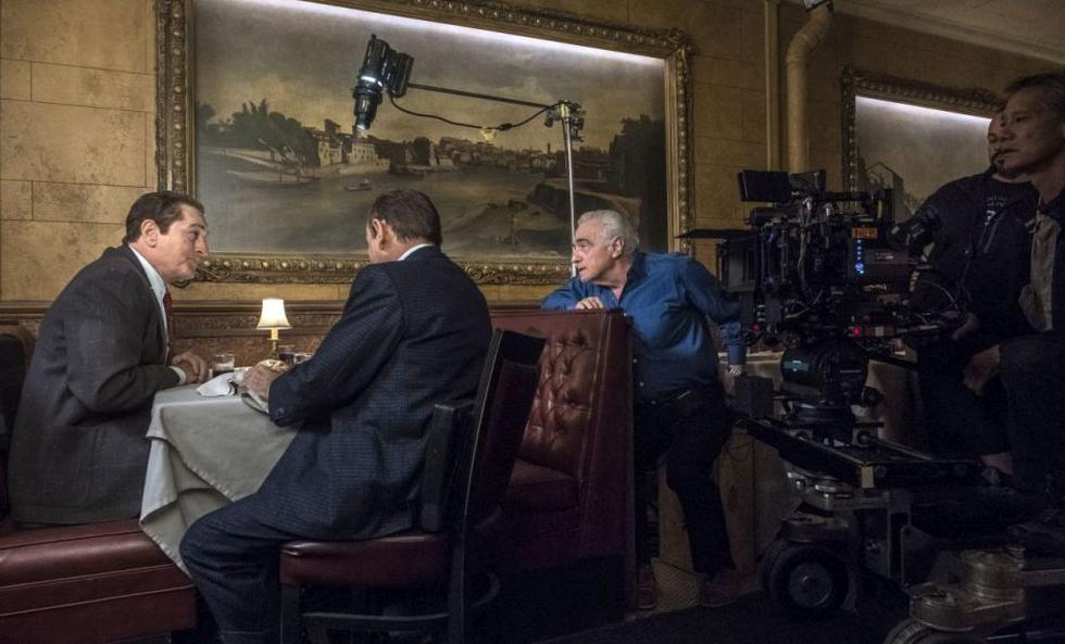 """El cineasta Martin Scorsese durante el rodaje de """"The Irishman"""", película producida por Netflix que tiene un estreno reducido en salas."""