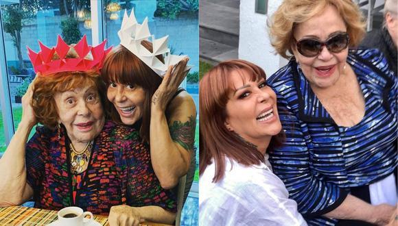 Alejandra Guzmán celebra junto a Silvia Pinal y Enrique Guzmán olvidándose de Frida Sofía. (Foto: Instagram de Alejandra Guzmán)