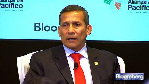 Ollanta Humala participó en Foro Latinoamericano de Bloomberg