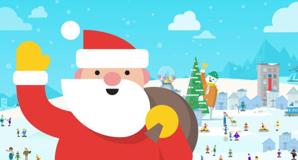¡Ya puedes ver lo que hace Papa Noel antes del 24 de diciembre! (Foto: Google Maps)