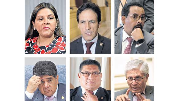 Beteta, Tapia, Segura, Sarmiento, Mantilla y Castro son los congresistas implicados en el caso.
