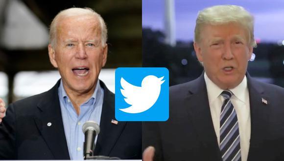 Ni siquiera Donald Trump o Joe Biden podrán anunciar el resultado electoral en Twitter antes de que se de oficialmente. (Fotos: AP/ Reuters   Composición: El Comercio)