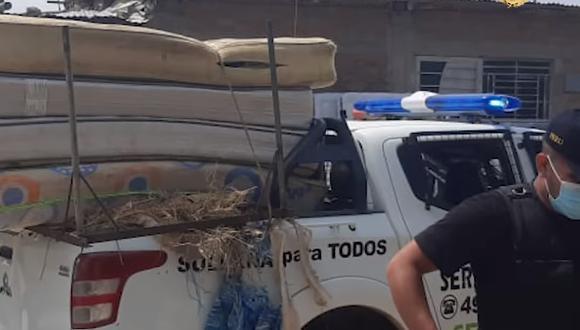 Ministerio Público interviene locales donde fabricaban colchones rellenos de ladrillos en Piura. (Foto: MP)