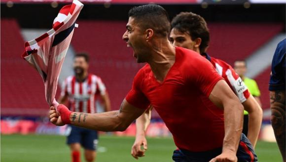 Luis Suárez marcó 21 de los 67 goles que anotó el Atlético de Madrid en la Liga. Es decir, el 30%. (Foto: AFP)