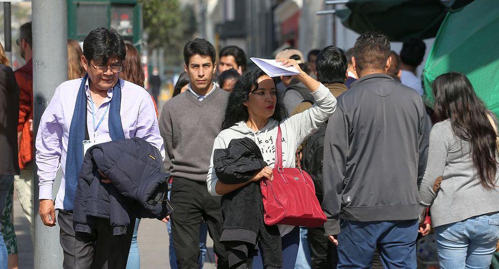 El Senamhi advirtió que el índice máximo UV en Lima alcanzará el nivel 14, especialmente cerca del mediodía, este sábado. (Foto: GEC)