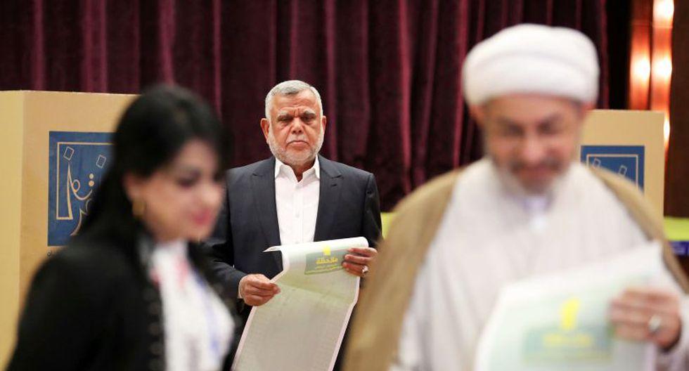 Fatá es encabezada por Hadi al-Amiri, un exministro y excomandante paramilitar en la lucha contra el grupo Estado Islámico. Muchos candidatos de su lista también son paramilitares. (Foto: Reuters/Ahmed Jadallah)