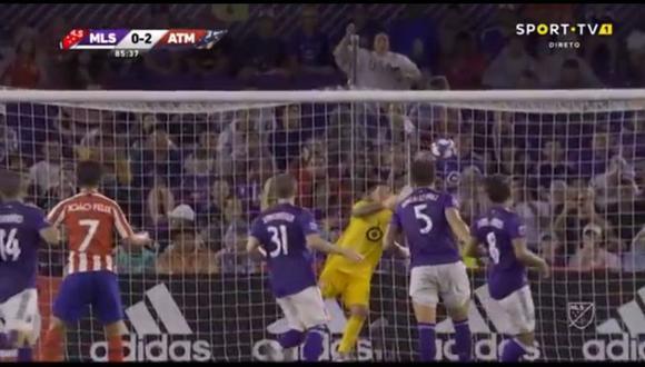 Joao Félix fue el autor del 2-0 en el Atlético de Madrid vs. MLS All Stars en el marco de un duelo amistoso disputado en Estados Unidos (Foto: captura)