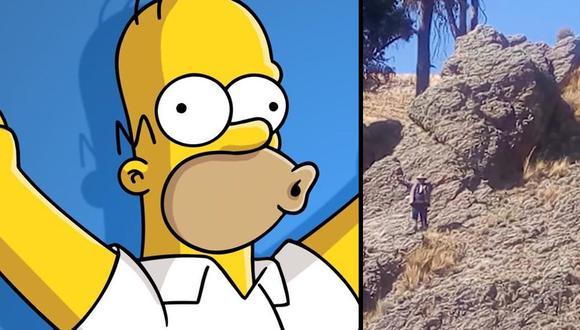 La roca parecida a Homero Simpson llevará, según los residentes de Huarina, prosperidad e impulsará el turismo en el país. |Foto: CNN/Fox