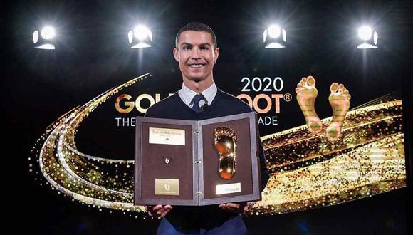 Cristiano Ronaldo recibió el Golden Foot 2020. (Foto: @Cristiano)
