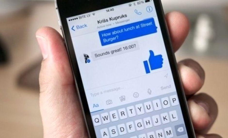 La aplicación de Facebook Messenger funciona de forma independiente a Facebook. (AFP)