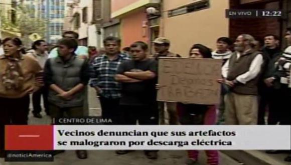 Cercado de Lima: sobrecarga eléctrica quemó artefactos