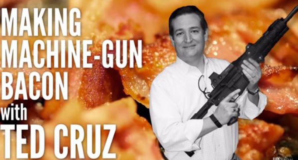 EE.UU.: Ted Cruz busca votos cocinando con una ametralladora