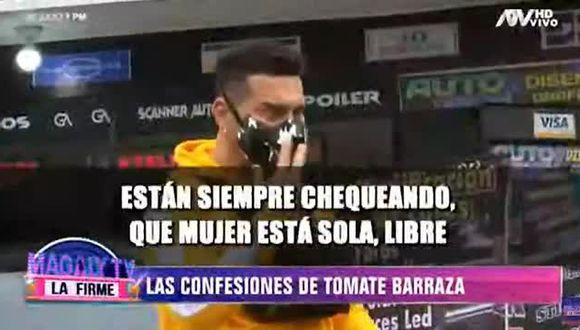'Tomate' Barraza reveló que Jefferson Farfán y Carlos Zambrano coquetearon con Vanessa López. (Foto: Captura de video)