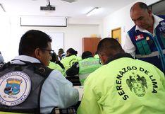 Lima: capacitan a serenos de seis distritos en temas de seguridad ciudadana