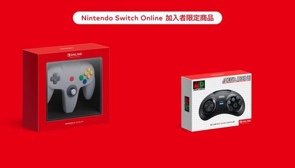 Nuevos mandos de Switch inspirados en Nintendo 64 y Mega Drive. (Imagen: Nintendo)