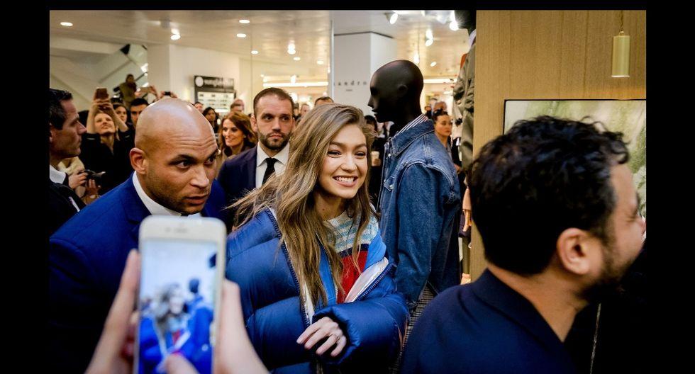 La modelo Gigi Hadid subió una singular foto a Instagram. (AFP)