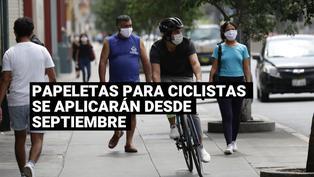 Desde septiembre se aplicarán papeletas para los ciclistas