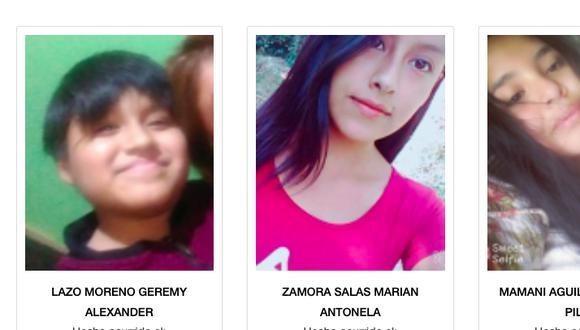 La desaparición de estos menores se dieron en las últimas 48 horas.