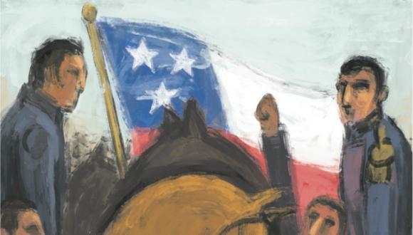 Cientos de oficiales estacionados en la costa, así como el Batallón Numancia, proveniente de Nueva Granada, cambiaron de bando a comienzos de diciembre de 1820.  (Ilustración: Víctor Aguilar)