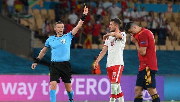 España empezó ganando el partido ante Polonia con gol de Morata, pero en el segundo tiempo Polonia empató el partido (Foto: AFP)