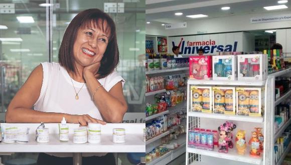 Farmacia Universal cuenta con ocho locales en Lima y más de 180 trabajadores, detalla Dolores. (Fotos: El Comercio/Farmacia Universal)