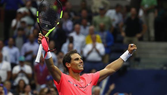 Rafael Nadal fue contundente y clasificó a las semifinales del US Open 2017. (Foto: AFP)