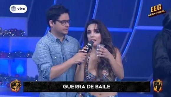 """La modelo Rosángela Espinoza fue eliminada por 'La Chola Chabuca'  de concurso de baile en """"Esto es guerra"""".  (Captura de pantalla)"""