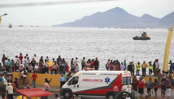 Chimbote: ocho pescadores se salvan de morir tras naufragio