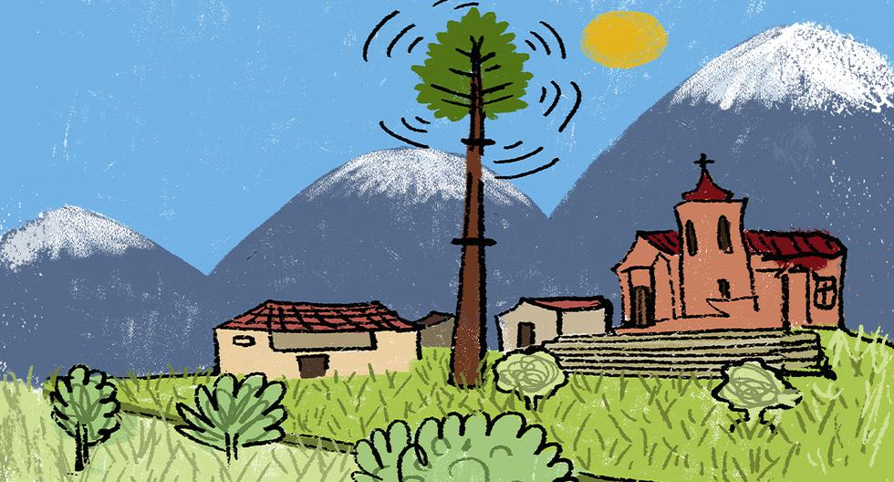 Según Osiptel, las empresas de telecomunicaciones en el país deben implementar más de 36 mil antenas de telefonía móvil hacia el 2025, para atender con calidad la demanda de este servicio. Eso es el triple de lo que se ha edificado en el quinquenio último. [ILUSTRACIÓN: GIOVANNI TAZZA].