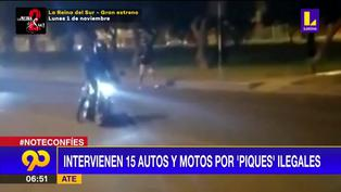 """Ate: Intervienen a 15 autos y motos en """"Piques ilegales"""""""