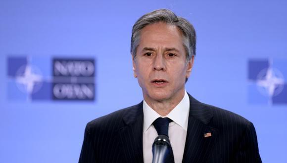 El secretario de Estado de Estados Unidos, Antony Blinken, durante una conferencia de prensa en la sede de la OTAN en Bruselas, Bélgica. (Foto: Kenzo Tribouillard / Pool vía REUTERS / Archivo).