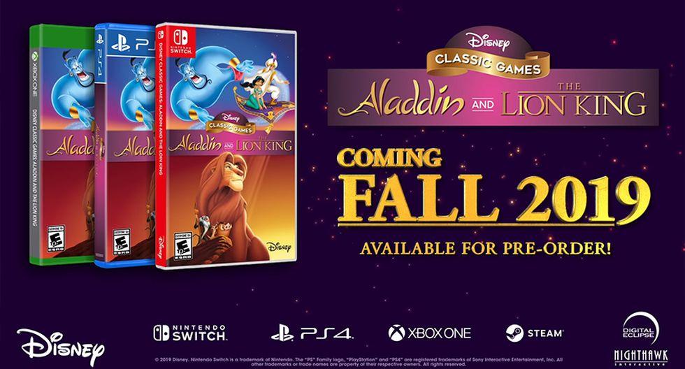 Disney Classic Games: Aladdin and The Lion King llegará a fin de año a PS4, XB1, Switch y PC. (Captura de pantalla)