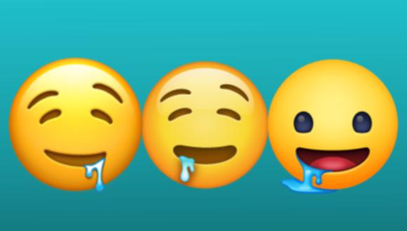 La versión de este emoji varía ligeramente de acuerdo a la plataforma en donde lo utilices, por ejemplo: Facebook lo muestra con los ojos abiertos (Foto: Mag).